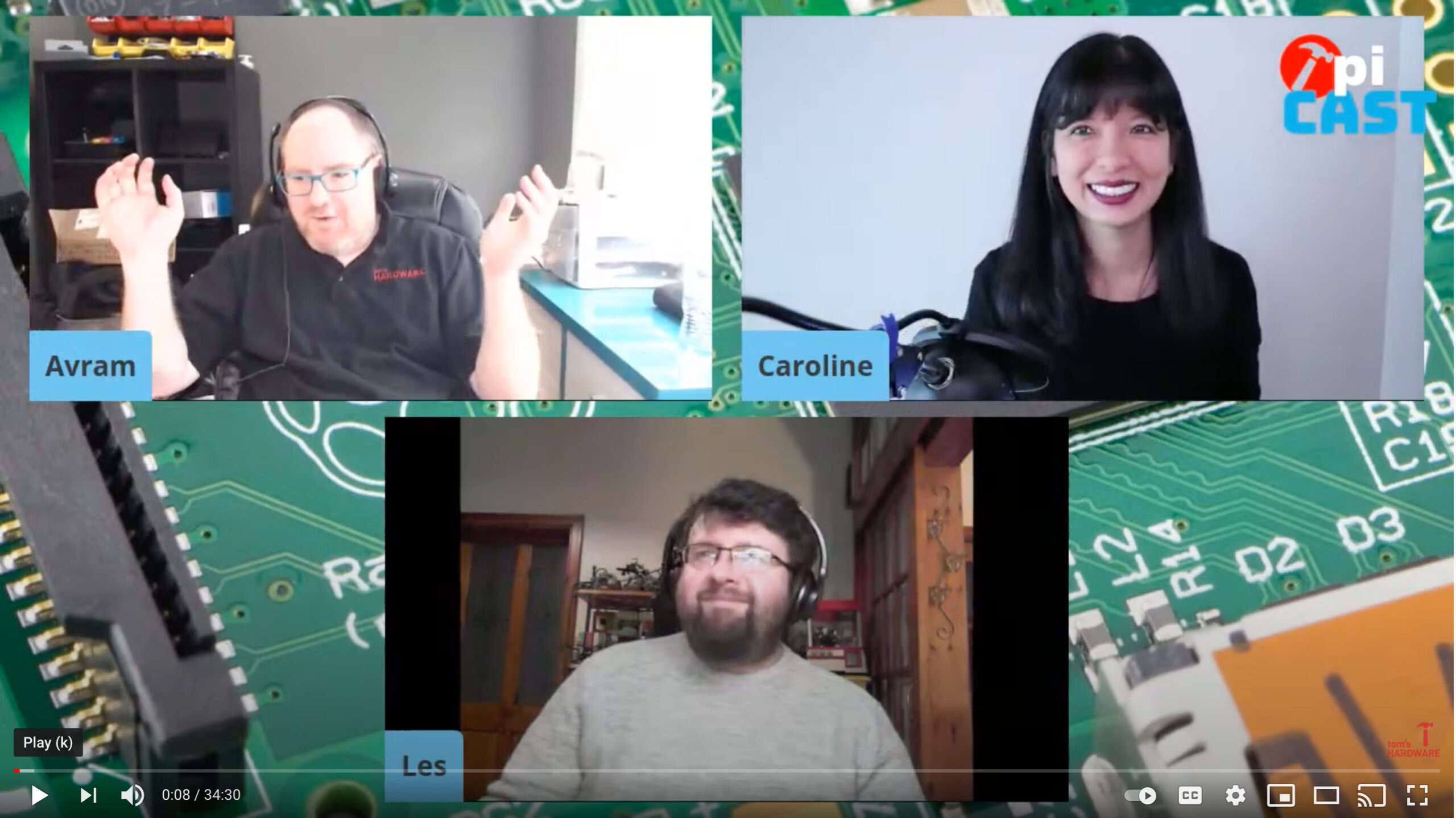 3 Time Featured Guest on the Pi Cast Show